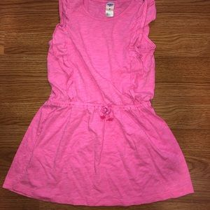 Casual pink dress.